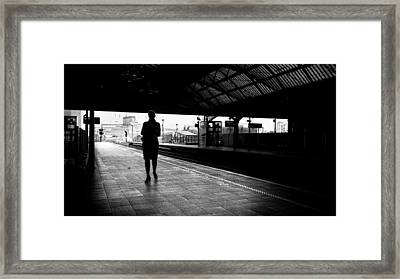 Pearse Station - Dublin, Ireland - Black And White Street Photography Framed Print by Giuseppe Milo