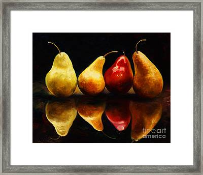 Pearsfect Framed Print by Laurie Hein