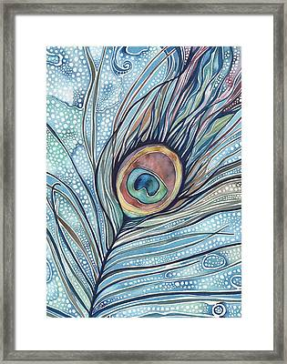Pea's Feather Framed Print by Tamara Phillips