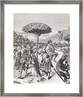 Peasant Dances Of The May Feasts. After Framed Print by Vintage Design Pics