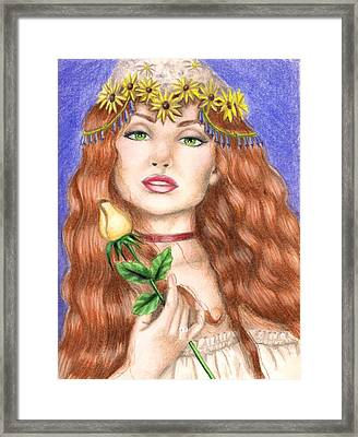 Peasant Girl Framed Print by Scarlett Royal