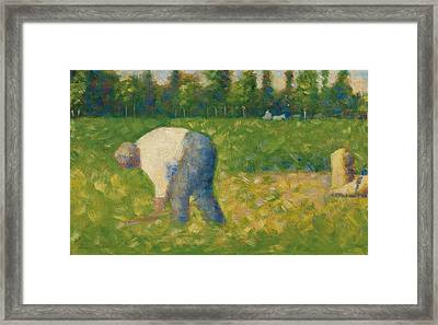 Peasant Working Framed Print