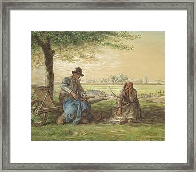 Peasants Resting Framed Print