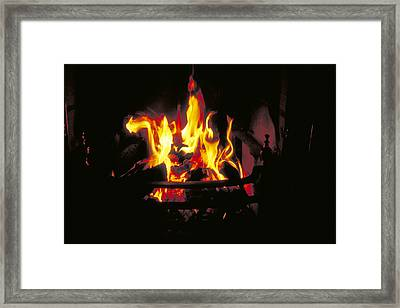 Peat Fire In Ireland Framed Print by Carl Purcell