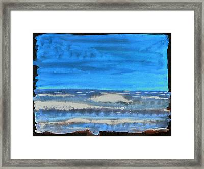Framed Print featuring the painting Peau De Mer by Marc Philippe Joly