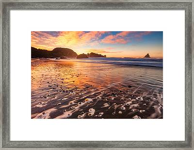 Pebble Beach Framed Print by Darren White