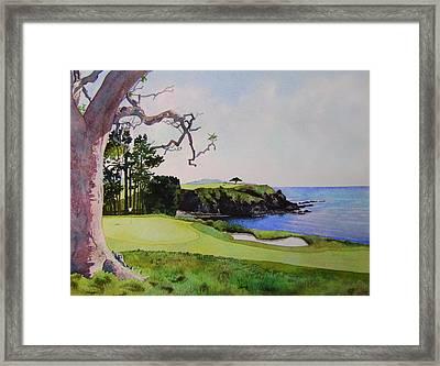Pebble Beach Gc 5th Hole Framed Print by Scott Mulholland