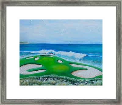 Pebble Beach Framed Print by Nancy Quiaoit