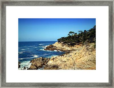 Pebble Beach Shoreline Framed Print by Joyce Dickens
