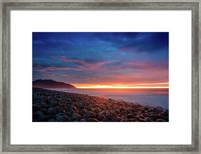 Pebble Beach Sunrise 2 Framed Print