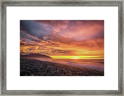 Pebble Beach Sunrise Framed Print