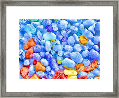 Pebble Delight Framed Print by Andreas Thust
