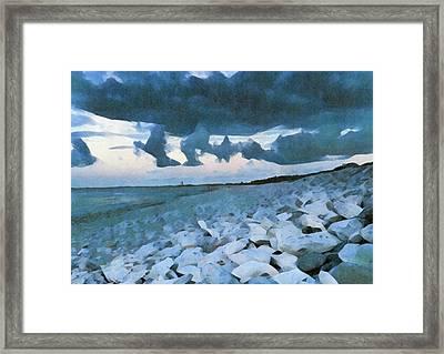Pebbled Beach Framed Print