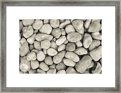 Framed Print featuring the photograph Pebbled Shoreline  by Stewart Scott