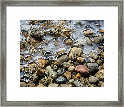 Pebbles And Ice Framed Print