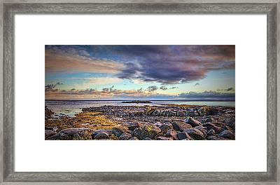 Pebbles And Sky  #h4 Framed Print