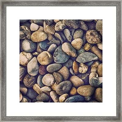 Pebbles Framed Print by Wim Lanclus