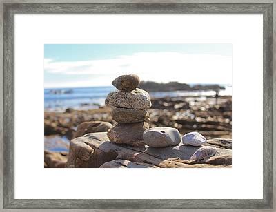 Peceful Zen Rocks Framed Print
