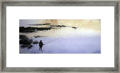 Peche Framed Print