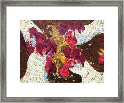 Pecking Order Framed Print by Jame Hayes