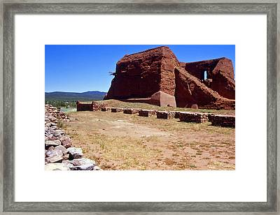 Pecos Mission New Mexico - 2 Framed Print by Randy Muir