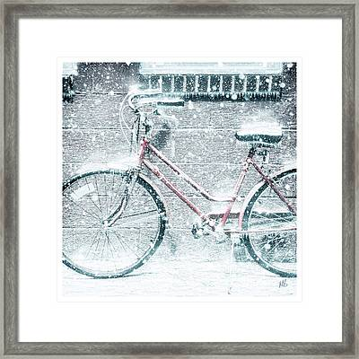 Pedal Not For Snow Is Here Framed Print