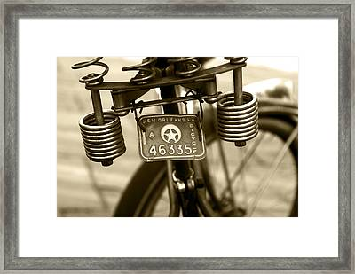 Pedaling New Orleans Framed Print by Wayne Archer