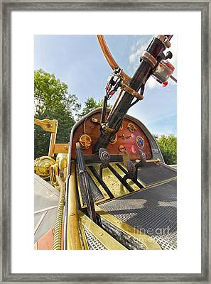 Pedals And Dials Framed Print