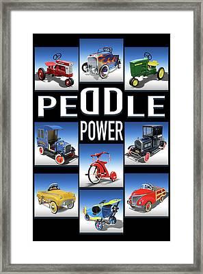 Peddle Power Framed Print by Mike McGlothlen