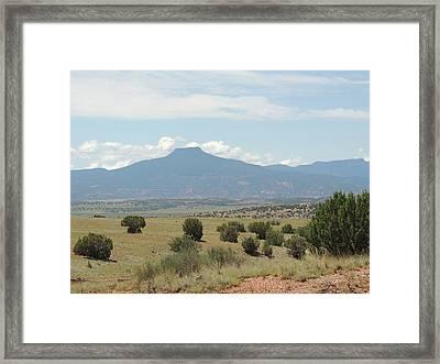 Framed Print featuring the photograph Cerro Pedernal  by Gordon Beck