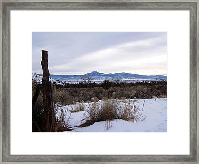 Pedernal Mountain Framed Print