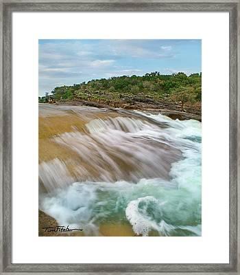 Pedernales Falls Framed Print by Tim Fitzharris