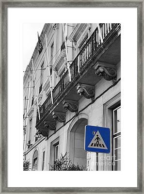 Pedestrian Crossing Framed Print by Floyd Menezes