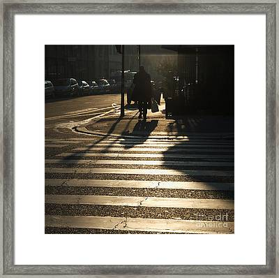 Pedestrian Passage Framed Print by Paolo Pizzimenti