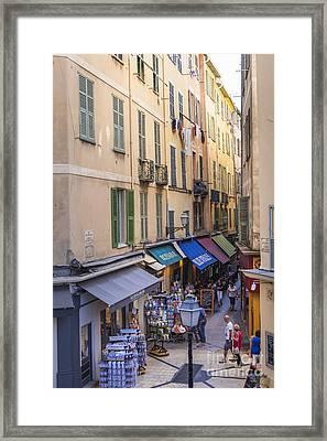 Street In Old Nice Framed Print