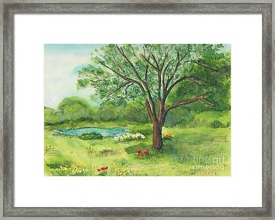 Framed Print featuring the painting Pedro's Tree by Vicki  Housel