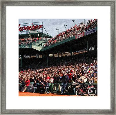 Pee Wee Does The Fenway Framed Print by George Curcio