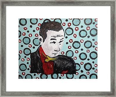 Pee Wee Herman Framed Print by April Harker