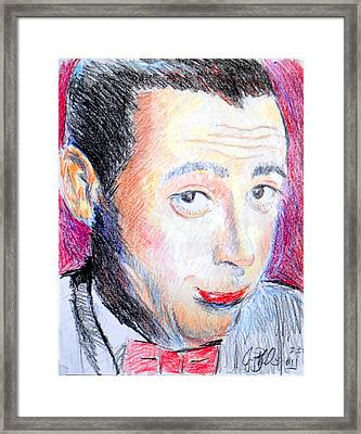 Pee Wee Herman  Framed Print by Jon Baldwin  Art