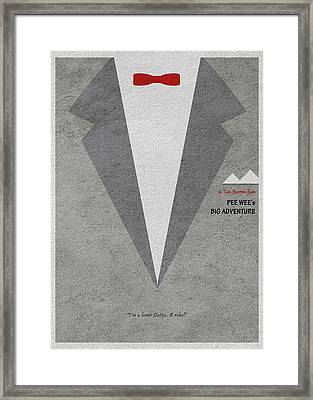 Pee-wee's Big Adventure Framed Print by Ayse Deniz