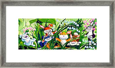 Peek-a-boo Bunnies Framed Print