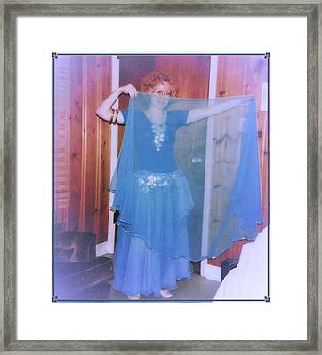 Framed Print featuring the photograph Peek-a-boo Dancer by Denise Fulmer