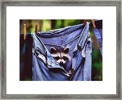 Peek A Boo Framed Print by Kathy Tarochione