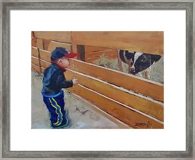 Peekaboo Framed Print by Laura Lee Zanghetti