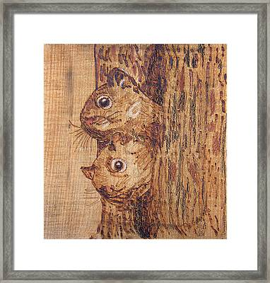 Peek A Boo Framed Print by Margaret G Calenda
