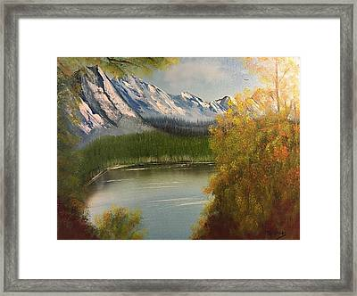 Peek-a-boo Mountain Framed Print