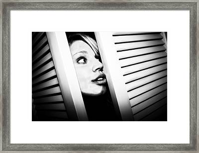 Framed Print featuring the photograph Peek-a-boo by Ryan Smith