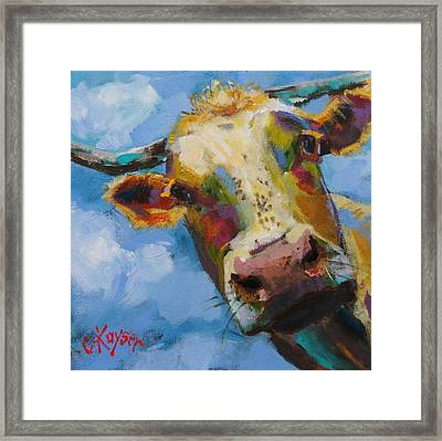 Peek A Moo Framed Print by Claire Kayser