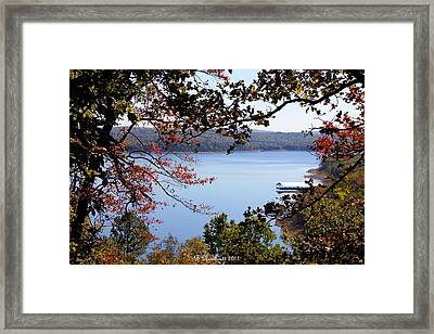 Peek-a-view Framed Print