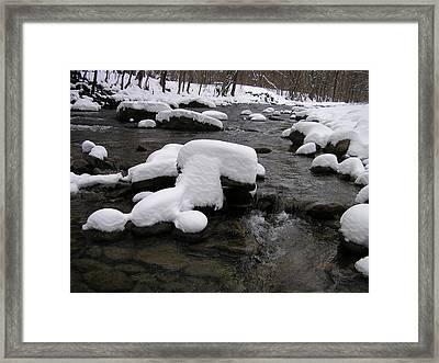 Peekamoose Winter Framed Print by William A Lopez